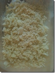 shredded cauliflower