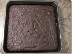 Brownies after the oven