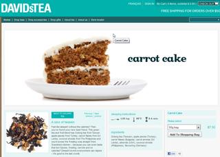 Davids tea carrot cake