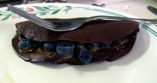 Chococlate Blueberry Crepe