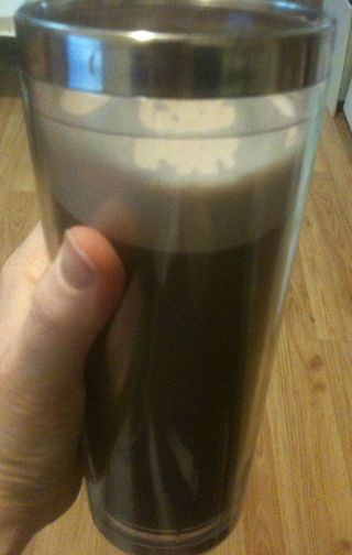 Chocolate protein latte