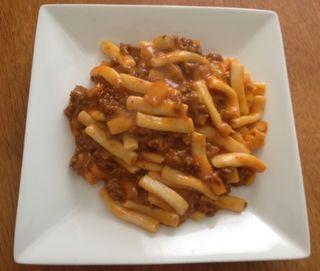 Shirataki macaroni hamburger