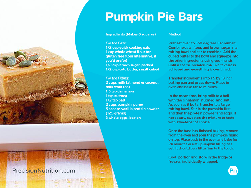 Pumpkin Protein Bars